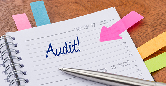 Daily planner with the entry Audit