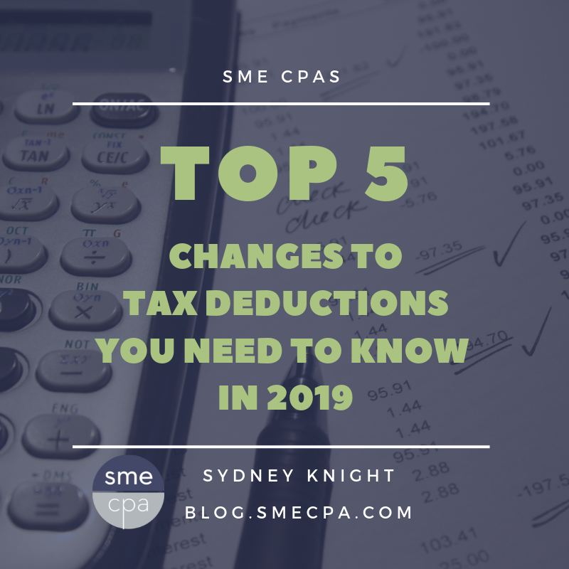 Top 5 Tax Deductions You Should Know In 2019